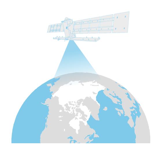 Illustratsioon:merejää kosmosest vaadatuna